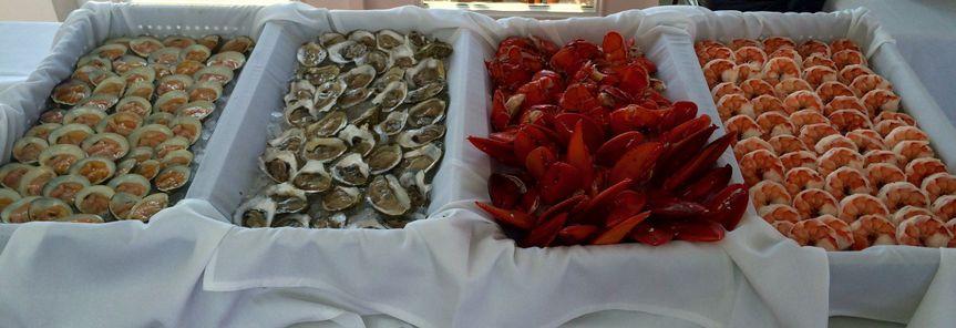 Sea food wedding meal