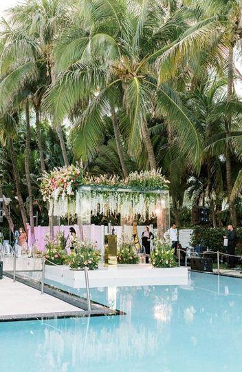 Pool Wedding Ceremony