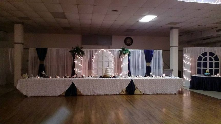 This was the bride & grooms table and our setup area, it's not our passion to be in your pictures....