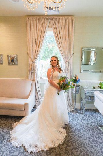 Bride in Bridal Suite