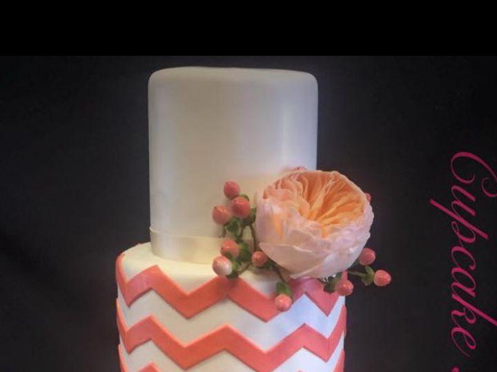 Tmx 1467944425174 Peach And Gold Kissimmee wedding cake