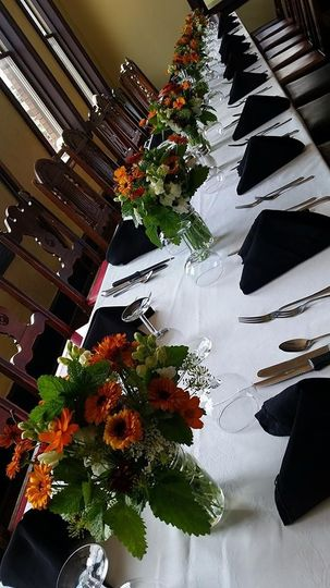 allens wedding table