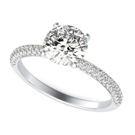 Tmx 1449531459103 0023 Round Cut Diamond Engagement Ring White Gold  Los Angeles wedding jewelry
