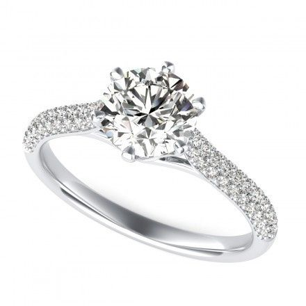 Tmx 1449531466129 0038 Round Cut Diamond Cathedral Engagement Ring W Los Angeles wedding jewelry
