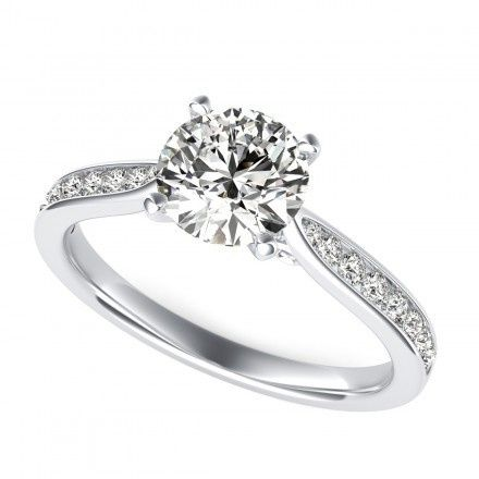 Tmx 1449531472440 0048 Round Cut Diamond Accent Engagement Ring Whit Los Angeles wedding jewelry