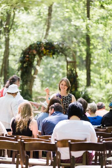 A beautiful Day for a woodsy wedding at The Music Camp