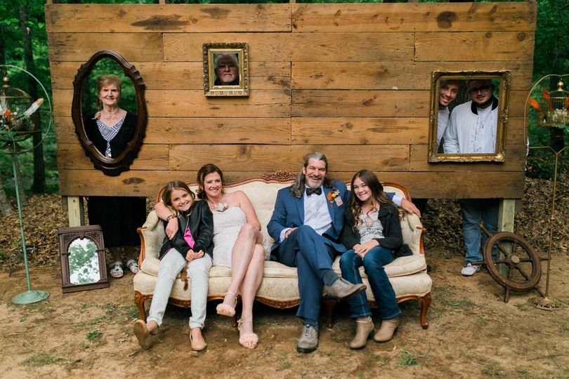 This photo booth is a great way to get the whole family in the picture even if they couldn't make it