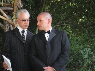 rev perry talking to groom