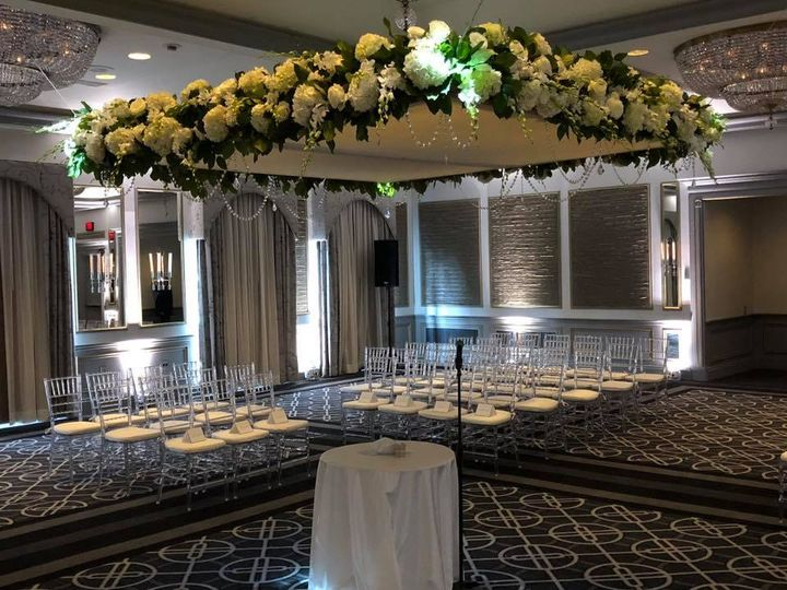 Floating chuppah