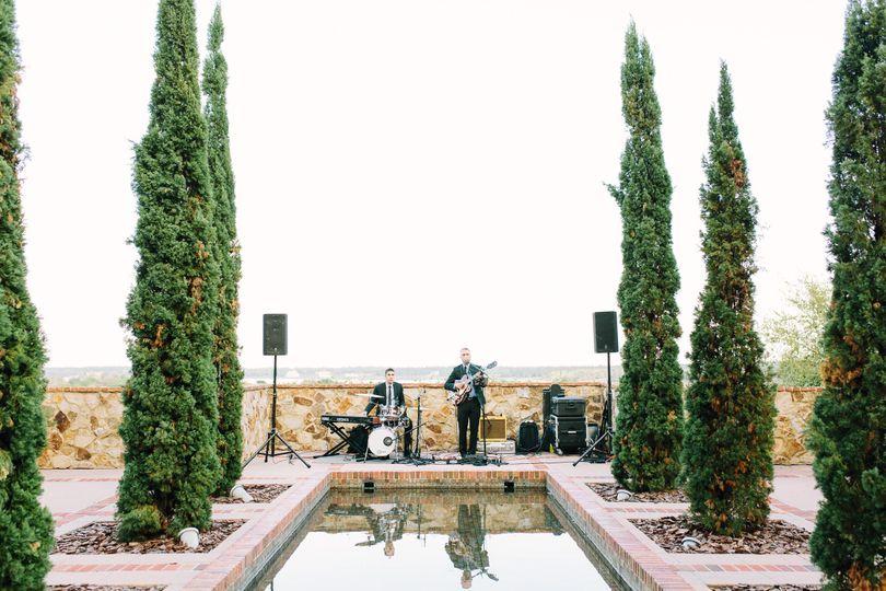 Outdoor band setup