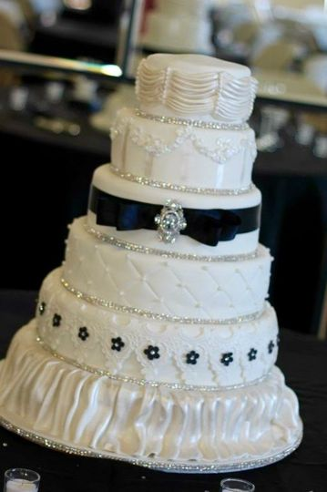 Black and white with loads of sparkle!