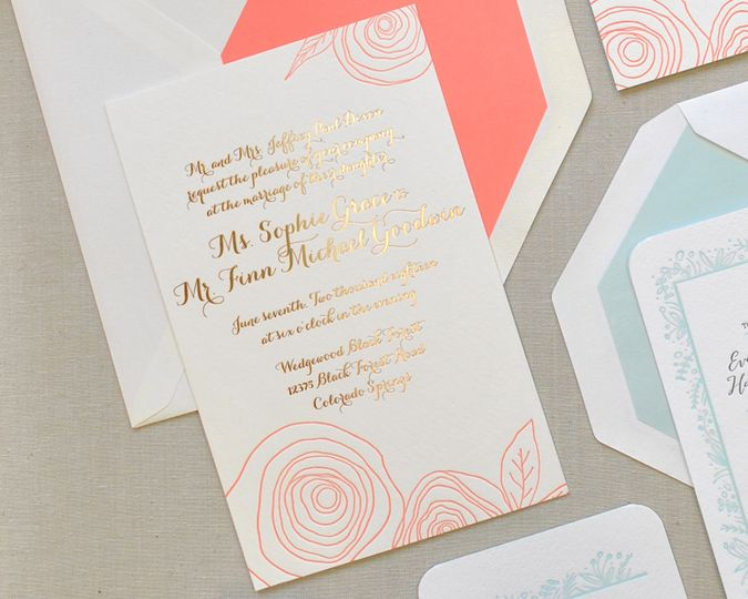 page stationery invitations richmond va weddingwire