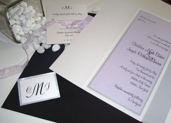 Lilac Love This silver and purple invitation is nothing less than stunning! The invitation card will...