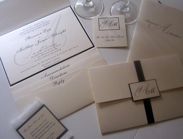 Starlight  This oversized pocket fold invitation is not only perfect for the most elegant affair,...