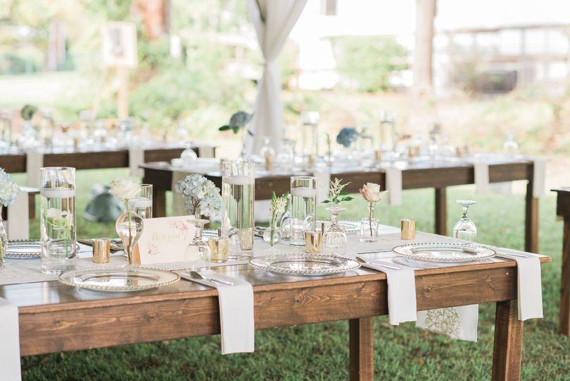 Beautiful Farm Table Setting