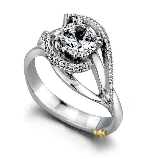 Tmx 1311355673049 Engagementringsweptaway Lemoyne wedding jewelry