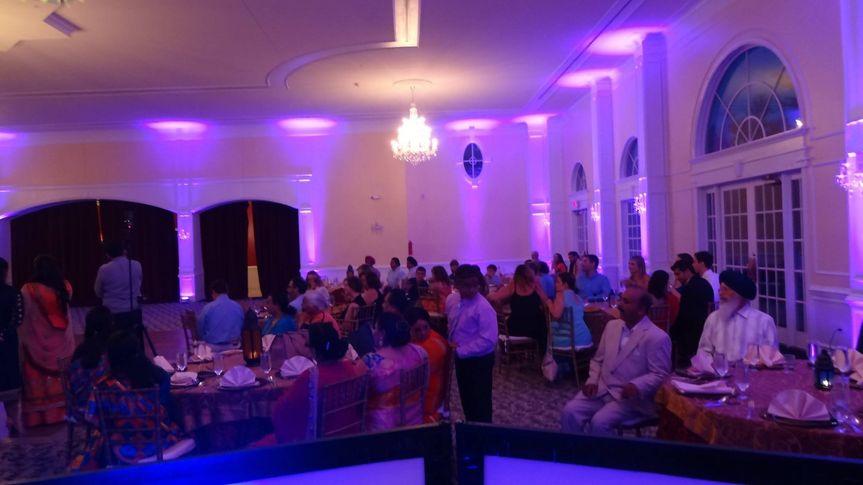 Indian Sangeet Setup - Dj - Sound - Uplighting - Basic Mc Moving Heads Dance Floor Lights  provided...