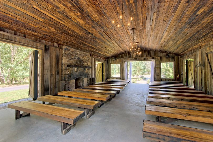 Inside barn chapel