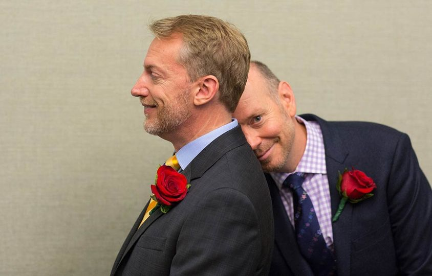 After 18+ years together and the fight/right to marry finally won — in some states, anyway….arghh! —...