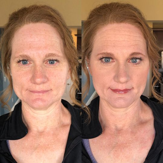 Event Makeup Before and After