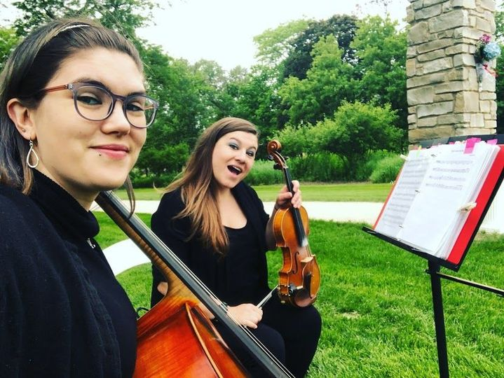 Performing in a park in Barrington in May, 2018.