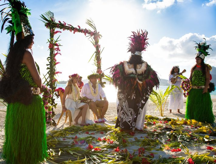 Bora Bora Traditional Tahitian Wedding Ceremony