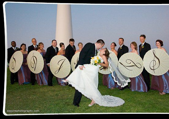 Add a touch of elegance to your wedding with our personalized parasols! We carry a variety of colors...