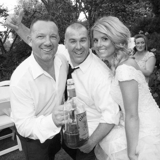 nick styles bride groom party fun 1
