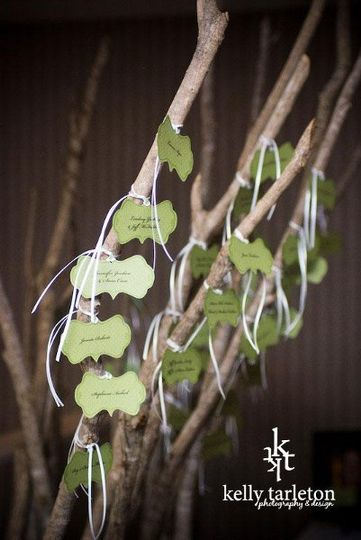 Custom place cards by Kelly Tarleton Photography & Design