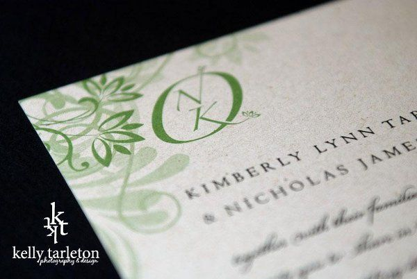 Custom logo and wedding invitations by Kelly Tarleton Photography & Design