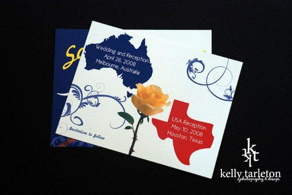 Custom Save-the-Date card by Kelly Tarleton Photography & Design