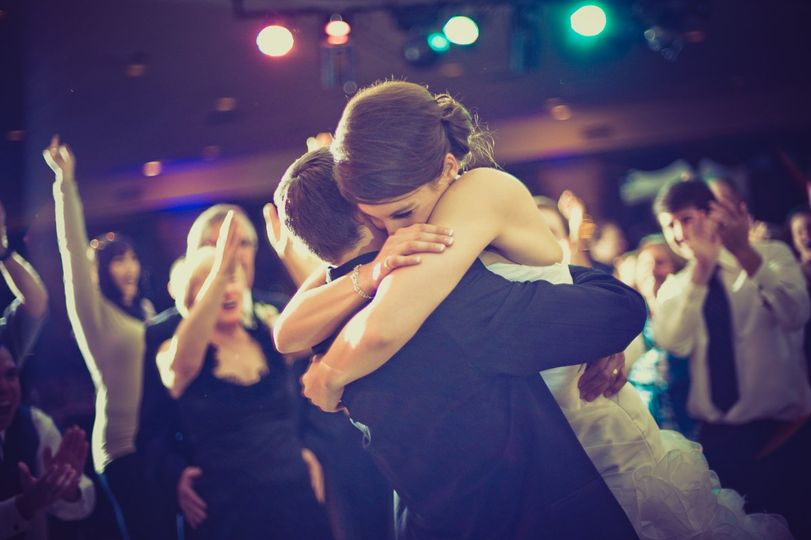 Dayna & Michael enjoying their reception.  photo: Jacob Chinn Photography filmed by: Beyond Video