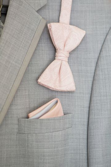 Bow tie and pocket square