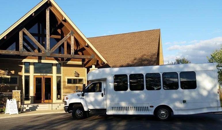 White classic bus