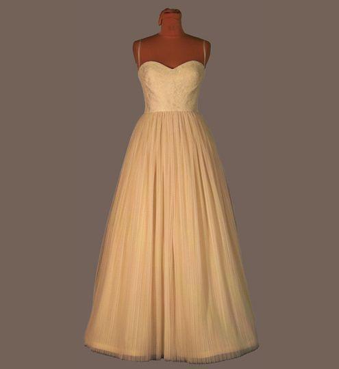 Simple white long dress