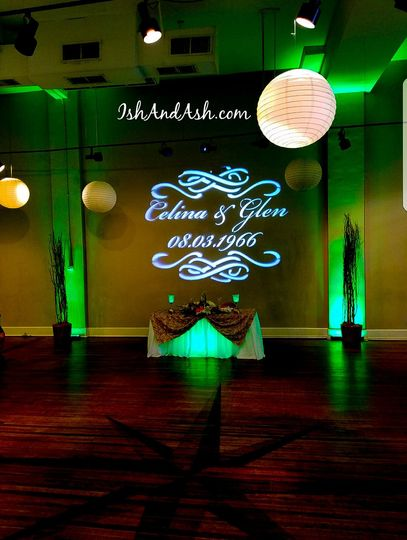Personalized Monogram Uplighting and head table uplight