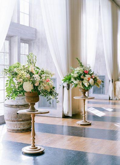 Hallway floral arrangement