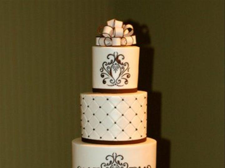 Tmx 1324003431570 IvoryBrownADD Winston Salem wedding cake