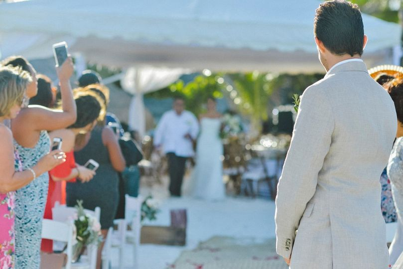 Beach Wedding Ceremony at Acamaya Reef Riviera Maya