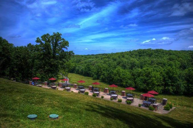 Outdoor view of the Seven Springs Winery