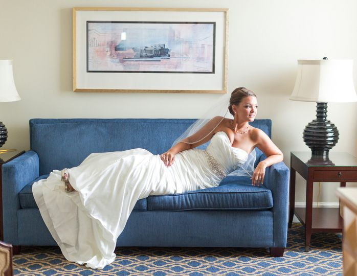 Bride at The Francis Marion House  Charleston, South Carolina