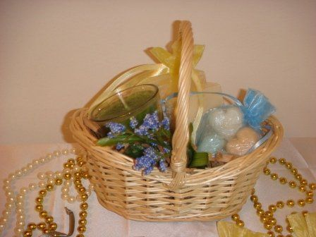 Beautiful gift baskets for Bridesmaid gifts or any other special occasion.  Basket includes a...