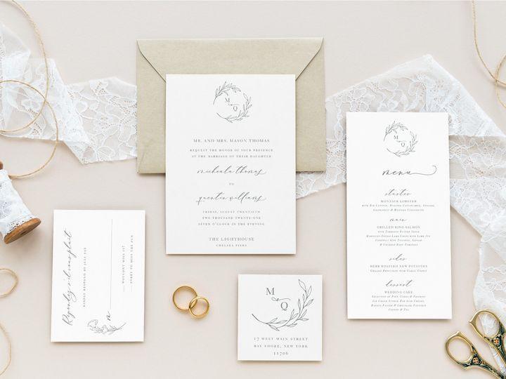 Tmx Romantic Rustic Flatlay 51 986292 159283585982534 Bay Shore, NY wedding invitation
