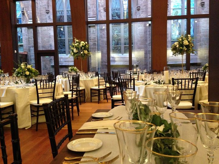 Photo by Chris Barker, featuring flowers and decor by Pranzi Catering.