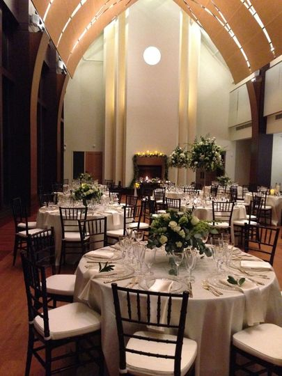 Photo by Scolari Photography, featuring flowers and decor by Pranzi Catering.