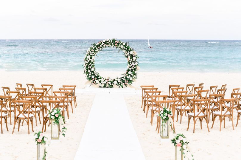 Round Arch Beach Wedding