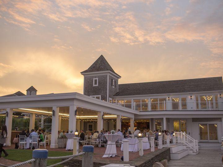 Tmx Wychmere Beach Club Veranda Set For Dinner With Guests Joshua Behan 51 49292 Harwich Port, MA wedding venue