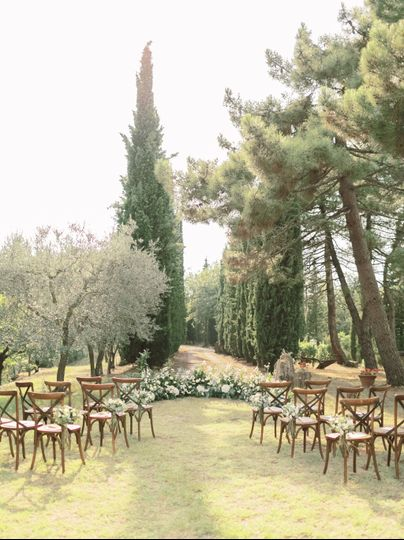 Ceremony in the cypresses