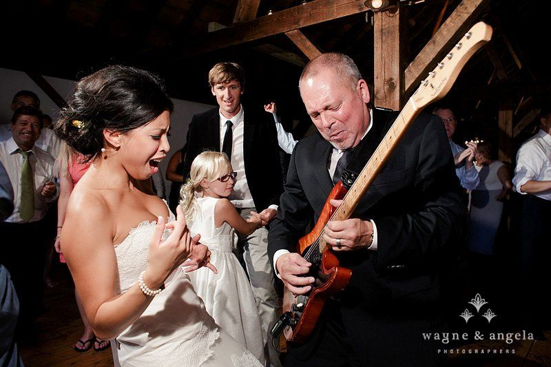 The guitarist and the bride