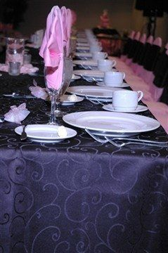 Custom Table Linen to Match a Valentines Day Themed Reception